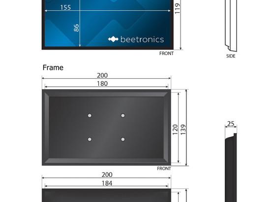 7 inch monitor (white)