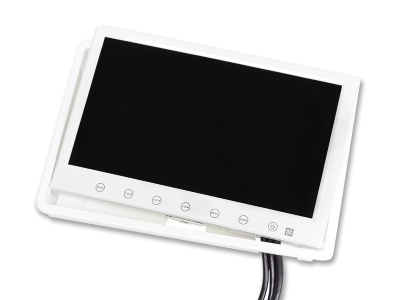 7 inch screen white